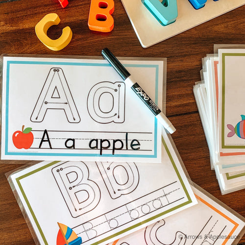 Oversized Printable Alphabet Flashcards - Arrows And Applesauce