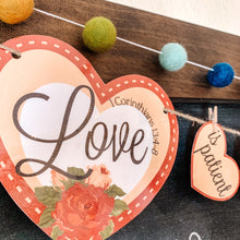 Load image into Gallery viewer, 1 Corinthians Valentines Countdown Printable Banner - Arrows And Applesauce