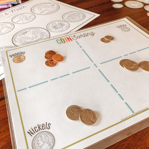 U.S. Coins Printable Activity BUNDLE - Arrows And Applesauce