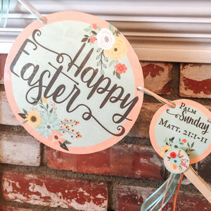 Easter Holy Week Countdown Printable Banner - Arrows And Applesauce