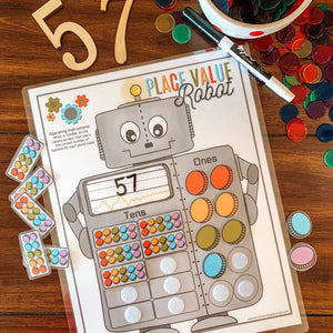 Place Value Printable Counting Robot - Arrows And Applesauce