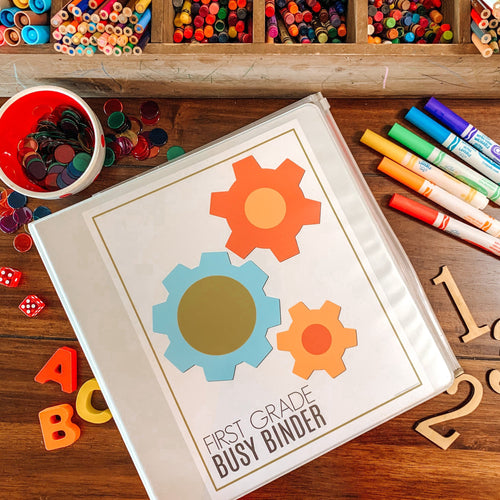First Grade Printable Busy Binder Starter Kit - Arrows And Applesauce
