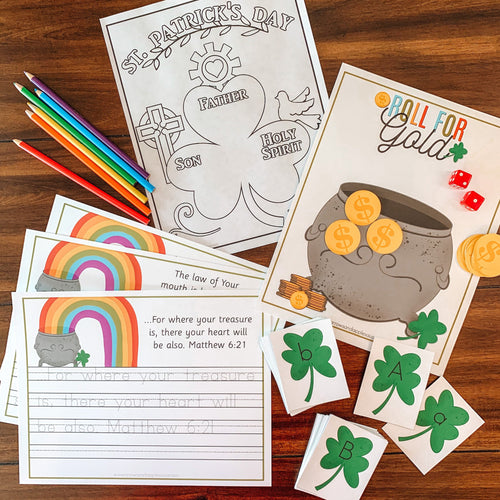 St. Patrick's Day Printable Activity Pack - Arrows And Applesauce