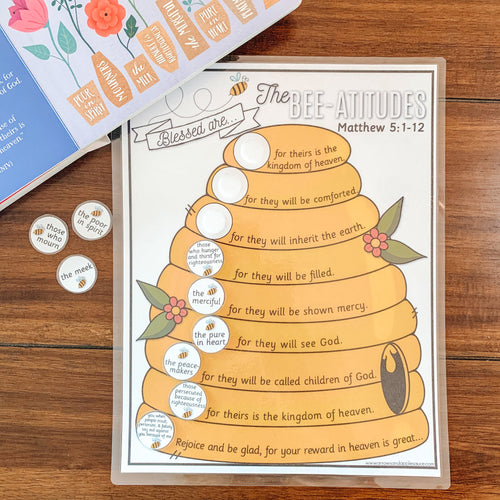Beatitudes Printable Bible Verse Game - Arrows And Applesauce