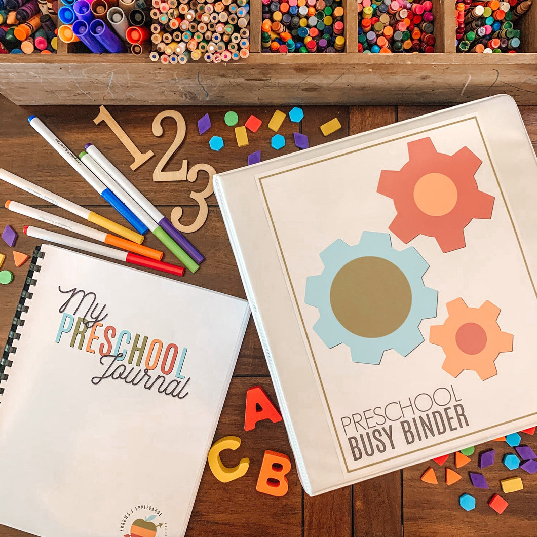 MEGA Preschool Bundle, Printable Pre-K Busy Binder & Journal - Arrows And Applesauce