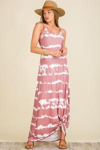 Coming Up Roses Tie Dye Maxi Dress