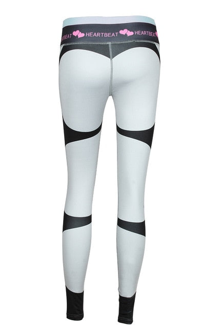 Heart Sexy Ankle-Length  Pants Elasticity High Waist  Legging
