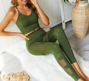 Seamless Yoga 2 Pcs Sports Suits