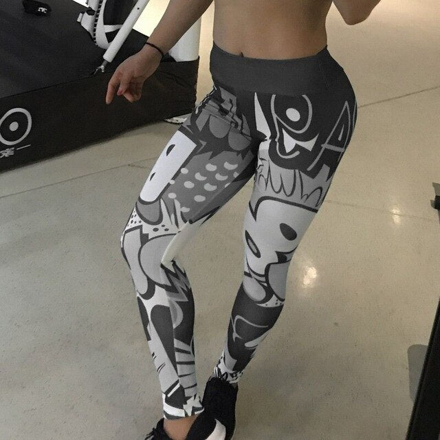 Mesh Printed Leggings