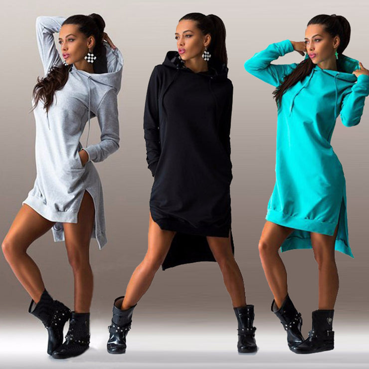 Sweatshirt Hooded Dress