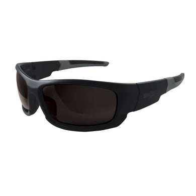 Safety Glasses, Black with Polarized Smoke Lens