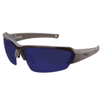 Safety Glasses, Grey with Polarized Blue Mirror Lens