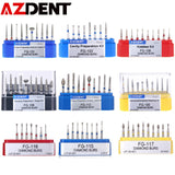 AZDENT  Dia.1.6mm  Dental Diamond Burs Drills High Speed Handpiece Polishing Whitening Tools Dental Burs for Teeth Whitening
