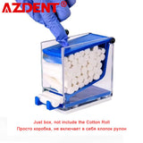 Dental Dentist Cotton Roll Dispenser Holder Press Type Hemostatic Cotton Box