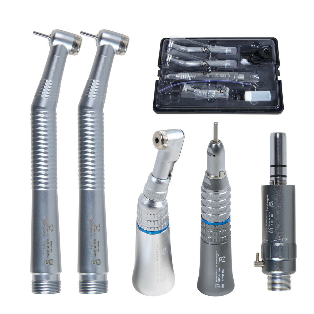 NSK Style Dental Cartridge for High&Low Speed Handpiece Kit Push/Latch Type 2/4Hole Poshing Handle Tools