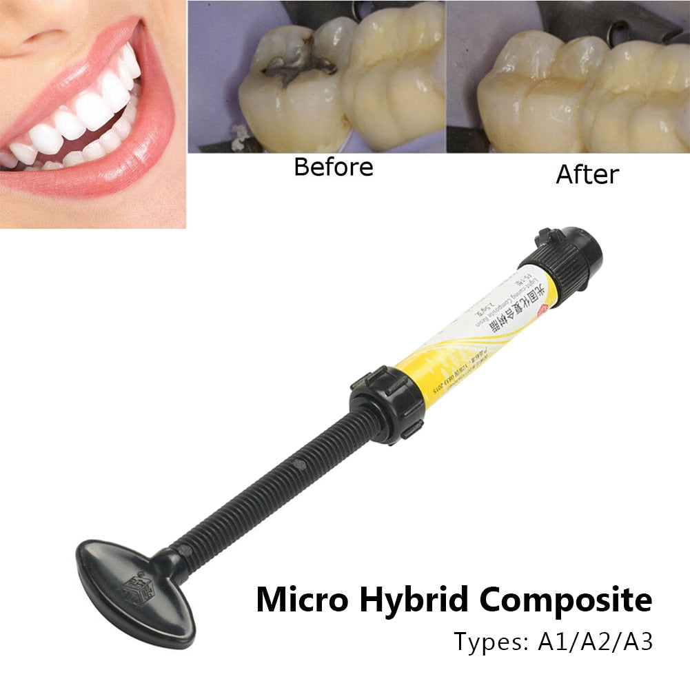 Universal Micro Hybrid Composite Low Shrinkage Tree Resin Oral Care Light Cured Shade Accessories Professional Radiopaque