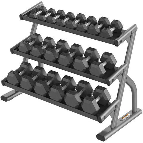 AXIOM SERIES THREE TIER HEX DUMBBELL RACK