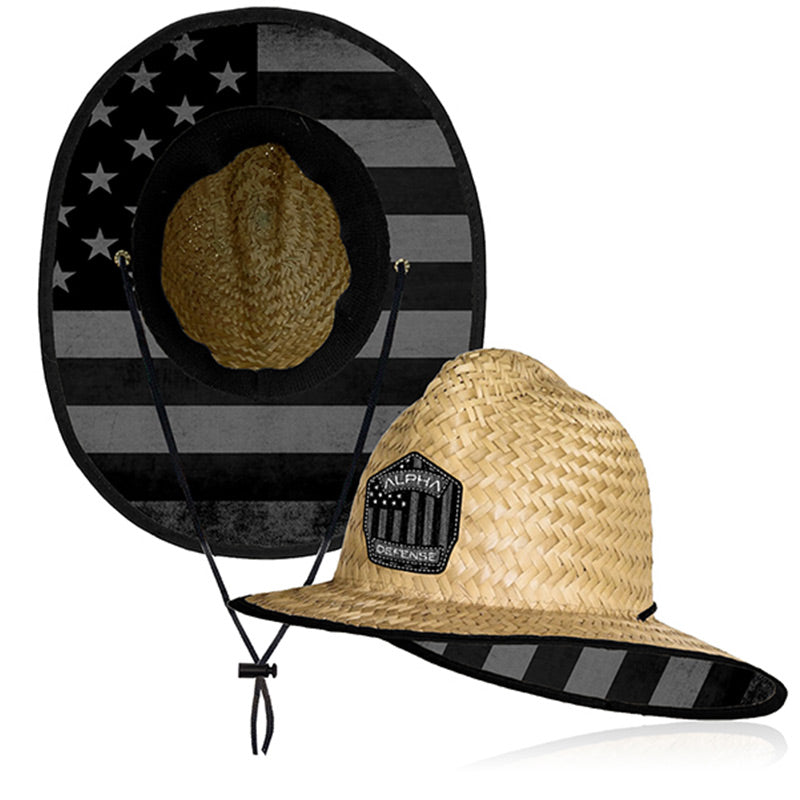 SA Co. Ladder Hat / Blackout American Flag with Embroidered Logo