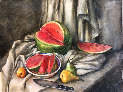Watermelon for Watercolor