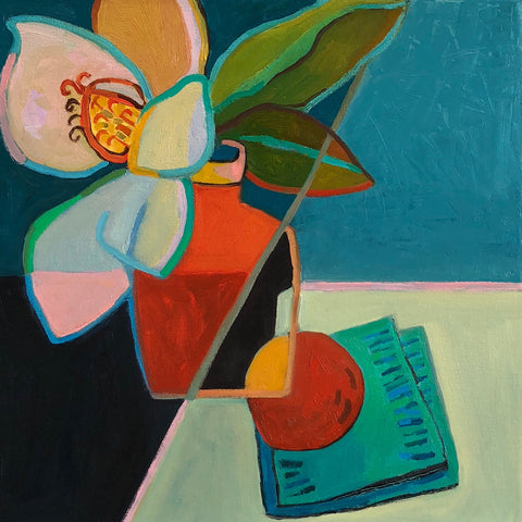 Magnolia and Peach- Lynne Hamontree