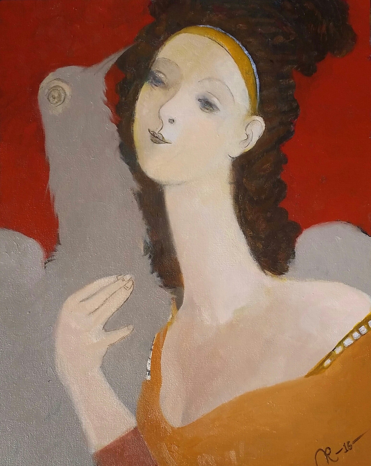 Woman With Bird #7