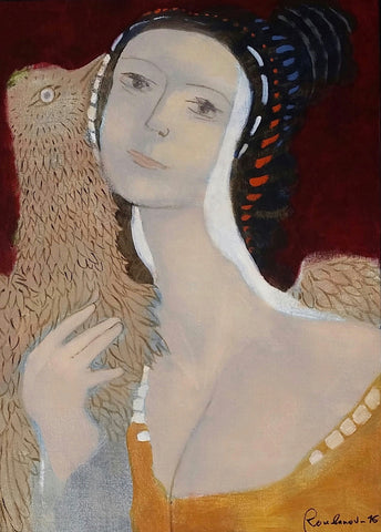 Woman With Bird - Slava Roubanov
