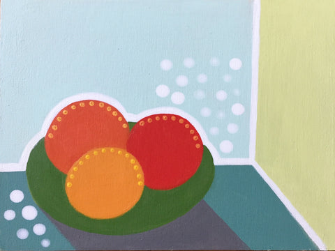 Oranges on Green Plate- Cindy DeAntonio