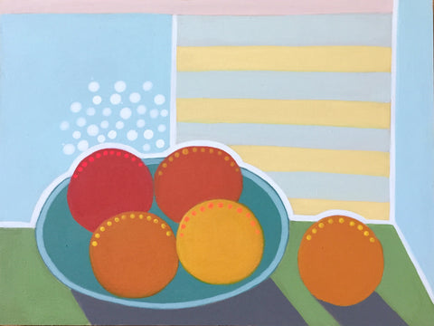 Large Plate of Oranges- Cindy DeAntonio