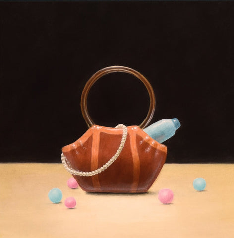 Porcelain Ladies' Purse and Candy Balls