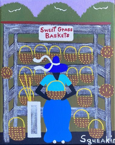 Basket Lady (Blue Hat)