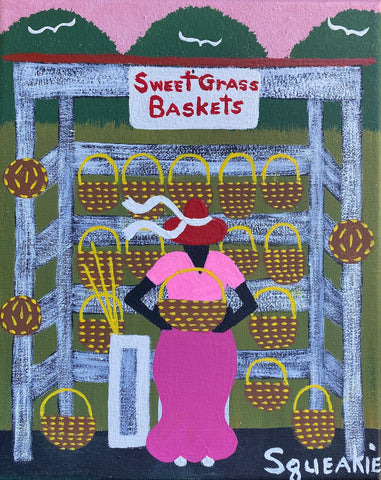 Basket Lady (Red Hat)