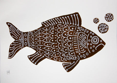 Brown Fish II- Lynne Hamontree