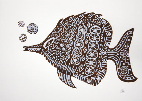 Brown Fish IV- Lynne Hamontree