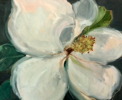 Magnolia On Grey II