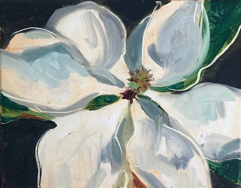 Magnolia On Grey Study