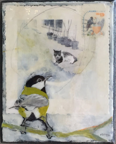 Cat & Bird- Katherine McClure