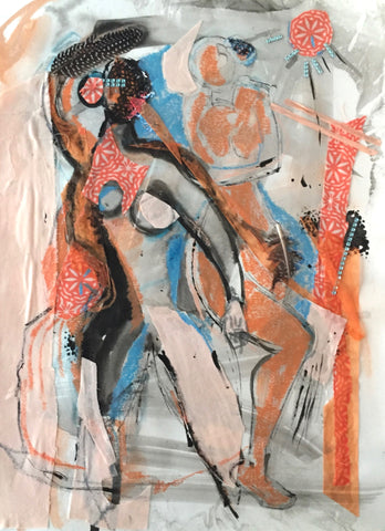 Collage in Orange - Anne Darby Parker