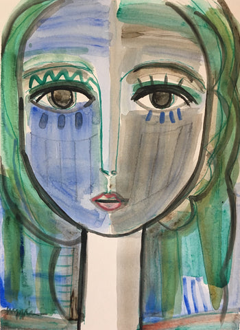 Blue Green Woman- Craig Greene