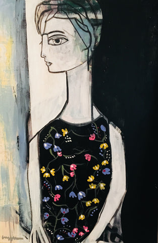 Woman With Flower Dress- Craig Greene