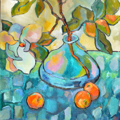 Magnolia and Peaches- Lynne Hamontree