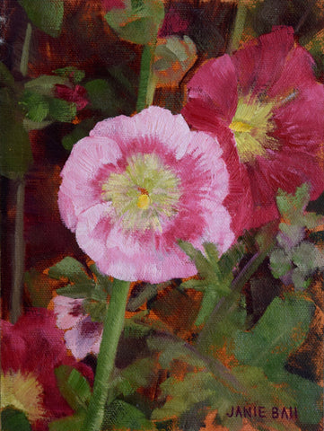 Hollyhocks - Janie Ball