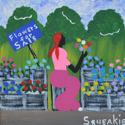 Flower Lady (Red Scarf) - Squeakie