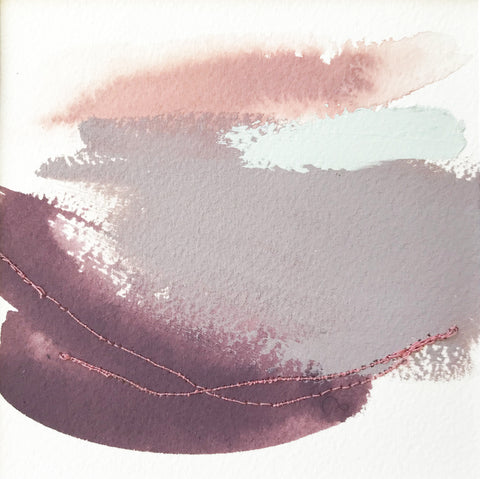 Color Study in Blush and Purple