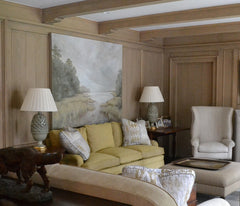 above: painting by Jane Ingols, interiors by Herndon Interiors