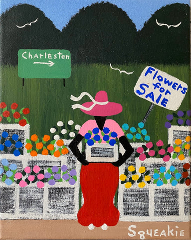 Flower Lady (Blue Sign)