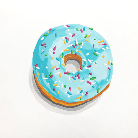 Blueberry Donut With Sprinkles- Gina Julian