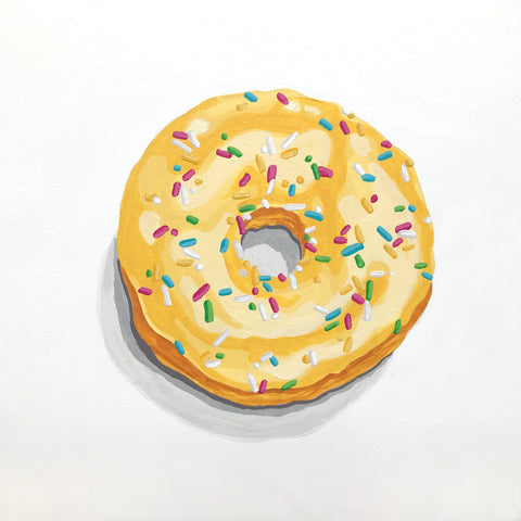 Lemon Donut With Sprinkles- Gina Julian