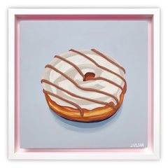 White Glazed Maple Stripe Donut