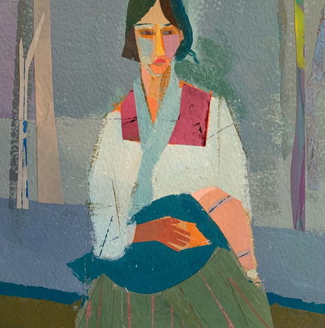 Gypsy Mother (After Modigliani)
