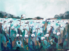 Cotton Field (Teal) - Hannah Lane